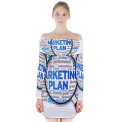 Article Market Plan Long Sleeve Off Shoulder Dress