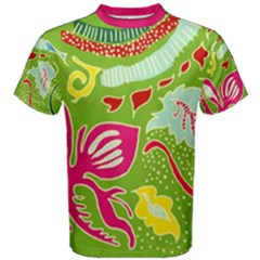 Green Organic Abstract Men s Cotton Tee