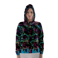 Graffiti style design Hooded Wind Breaker (Women)
