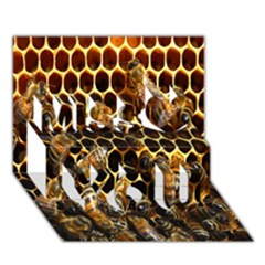 Bees On A Comb Miss You 3d Greeting Card (7x5)
