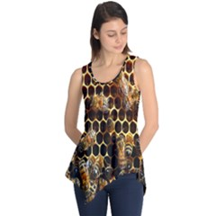 Bees On A Comb Sleeveless Tunic