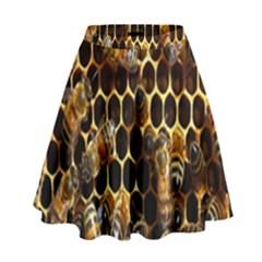 Bees On A Comb High Waist Skirt