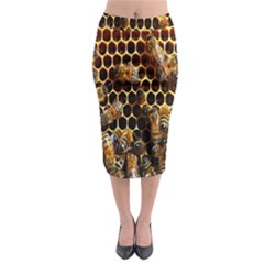 Bees On A Comb Midi Pencil Skirt