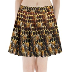 Bees On A Comb Pleated Mini Skirt