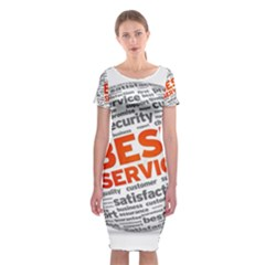 Best Service Classic Short Sleeve Midi Dress