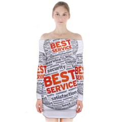Best Service Long Sleeve Off Shoulder Dress