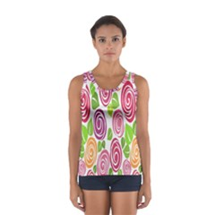 Blue Rose Women s Sport Tank Top