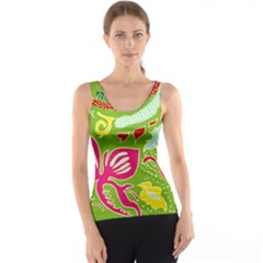 Green Organic Abstract Tank Top
