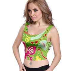 Green Organic Abstract Crop Top