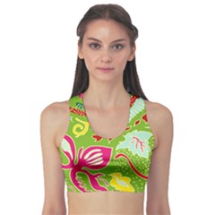 Green Organic Abstract Sports Bra