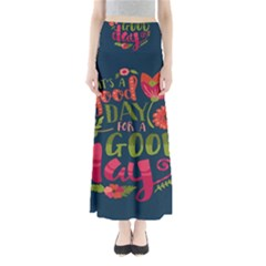 C mon Get Happy With A Bright Floral Themed Print Maxi Skirts