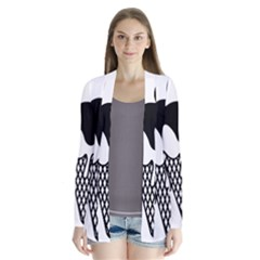 Blackandwhite Mickey Icecream Drape Collar Cardigan