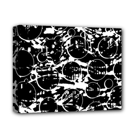 Black and white confusion Deluxe Canvas 14  x 11