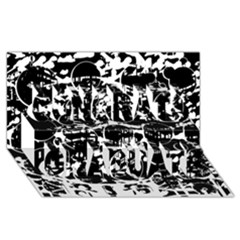 Black and white confusion Congrats Graduate 3D Greeting Card (8x4)
