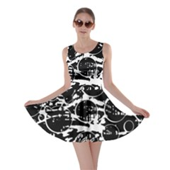 Black and white confusion Skater Dress