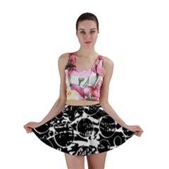 Black and white confusion Mini Skirt
