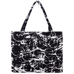 Black and white confusion Mini Tote Bag