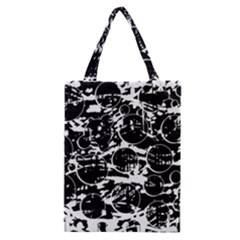 Black and white confusion Classic Tote Bag