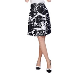 Black and white confusion A-Line Skirt