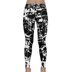 Black and white confusion Yoga Leggings