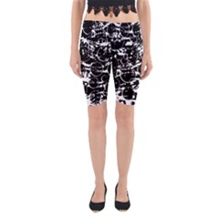 Black And White Confusion Yoga Cropped Leggings