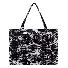 Black And White Confusion Medium Tote Bag