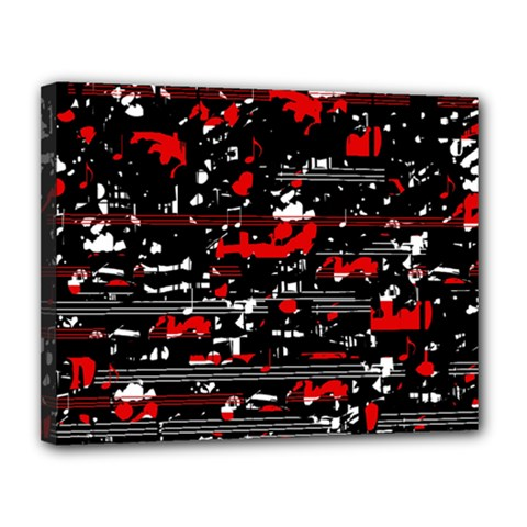 Red symphony Canvas 14  x 11
