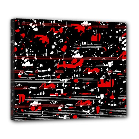 Red symphony Deluxe Canvas 24  x 20