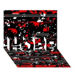 Red symphony HOPE 3D Greeting Card (7x5)