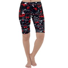 Red symphony Cropped Leggings