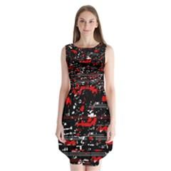 Red symphony Sleeveless Chiffon Dress