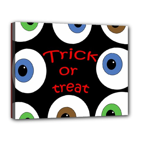 Trick or treat  Canvas 14  x 11