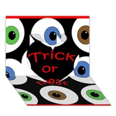 Trick or treat  Heart 3D Greeting Card (7x5)
