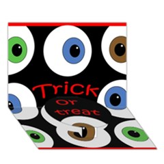 Trick Or Treat  Circle Bottom 3d Greeting Card (7x5)