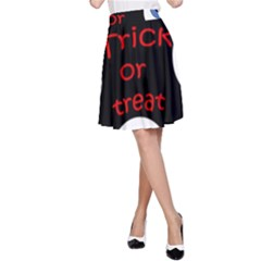 Trick or treat  A-Line Skirt