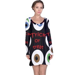 Trick or treat  Long Sleeve Nightdress