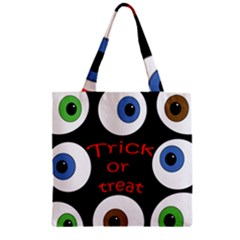 Trick or treat  Zipper Grocery Tote Bag