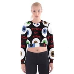 Trick or treat  Women s Cropped Sweatshirt