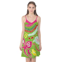 Green Organic Abstract Camis Nightgown
