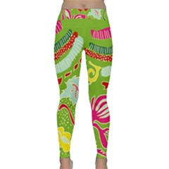 Green Organic Abstract Yoga Leggings