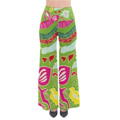Green Organic Abstract Women s Chic Palazzo Pants