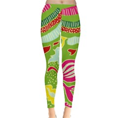 Green Organic Abstract Leggings