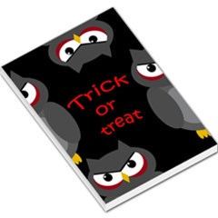 Trick or treat - owls Large Memo Pads
