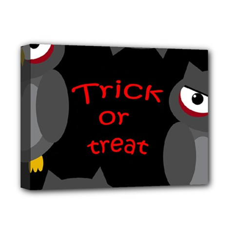 Trick or treat - owls Deluxe Canvas 16  x 12