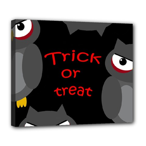 Trick or treat - owls Deluxe Canvas 24  x 20