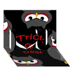 Trick or treat - owls I Love You 3D Greeting Card (7x5)