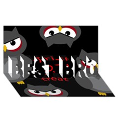 Trick or treat - owls BEST BRO 3D Greeting Card (8x4)