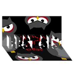 Trick or treat - owls BEST SIS 3D Greeting Card (8x4)