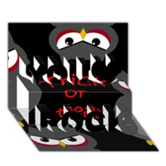 Trick or treat - owls You Rock 3D Greeting Card (7x5)