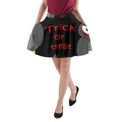 Trick or treat - owls A-Line Pocket Skirt